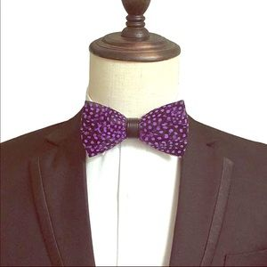 Other - Handmade Feather Leather Bow Tie Wedding Groom